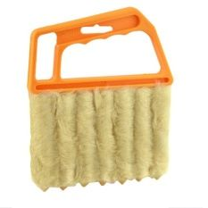Venetian Blind Brush Window Air Conditioner Duster Dirt Cleaner Yellow