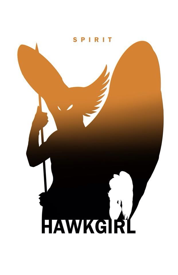 Hawkgirl - Spirit Silhouette by Steve Garcia                                                                                                                                                     More