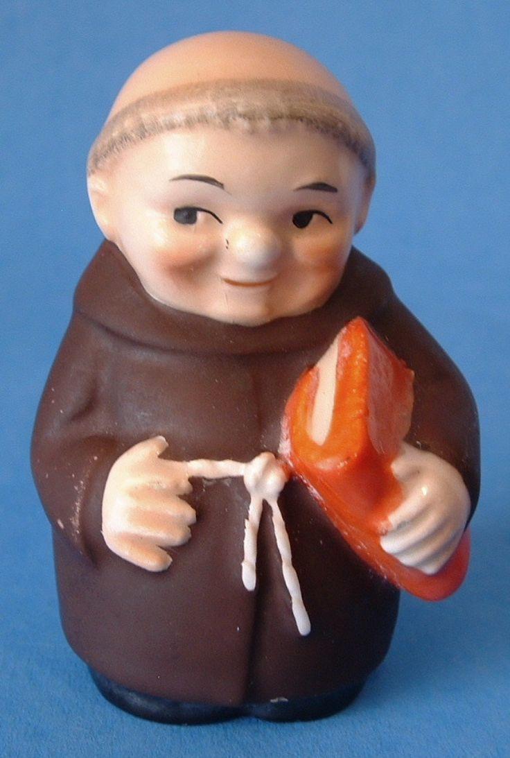 Goebel Friar Tuck Red Bible Salt Shaker Hummel Little Monk West Germany 1950s