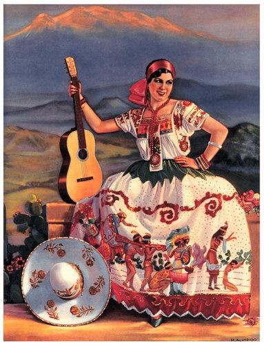 Mexican Calendar Art : Mexican calendar art via polyvore almanaques mexicanos