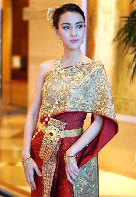 Thai Style Thai costume Thai girl Siam Dress Thai traditional costume Siam Dress Thai traditional costume แม่นาง - แม่หญิง