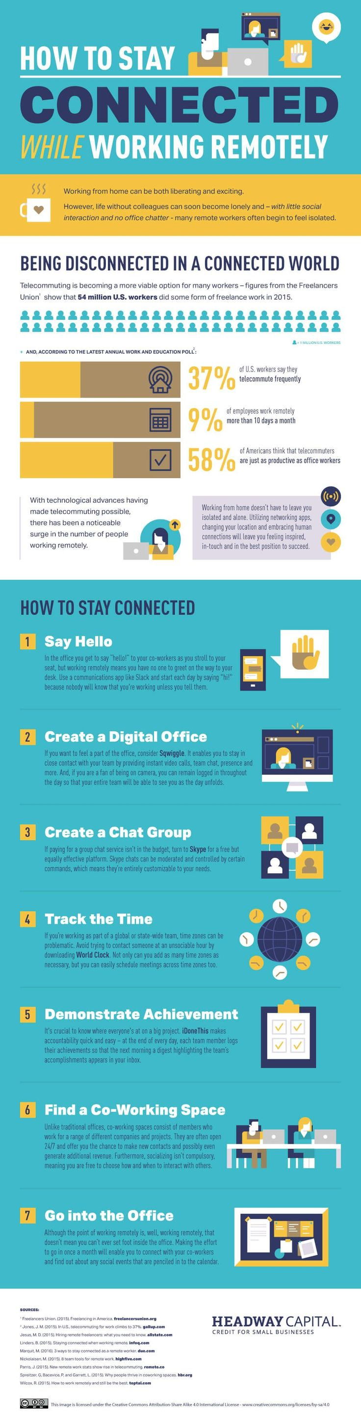How to Stay Connected While Working Remotely - #infographic