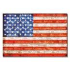 16 in. x 24 in. American Flag with States Canvas Art