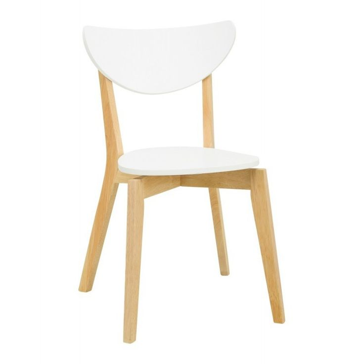 Furnish.com.au - Naida chair Natural color frame, White Lacquered backrest
