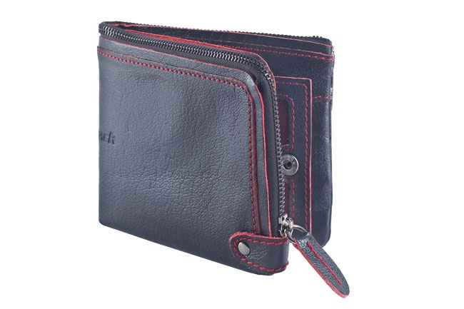 Leather large soft zipped wallet with internal card slots and push button closure. Wallets from Fastrack http://www.fastrack.in/product/c0320lbk01/?filter=yes=india=7=4&_=1334231917984