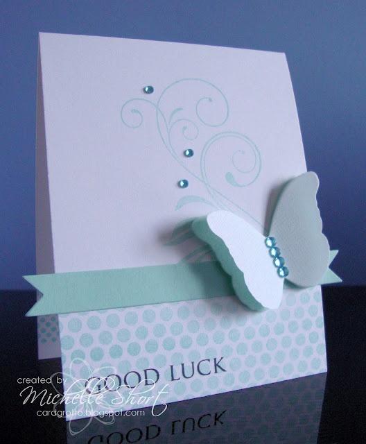 Good Luck Butterfly Card