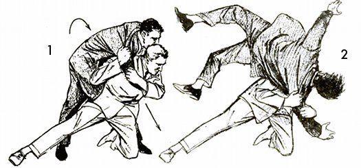 Unarmed Self-Defense from the Mad Men Era-Shoulder Drop