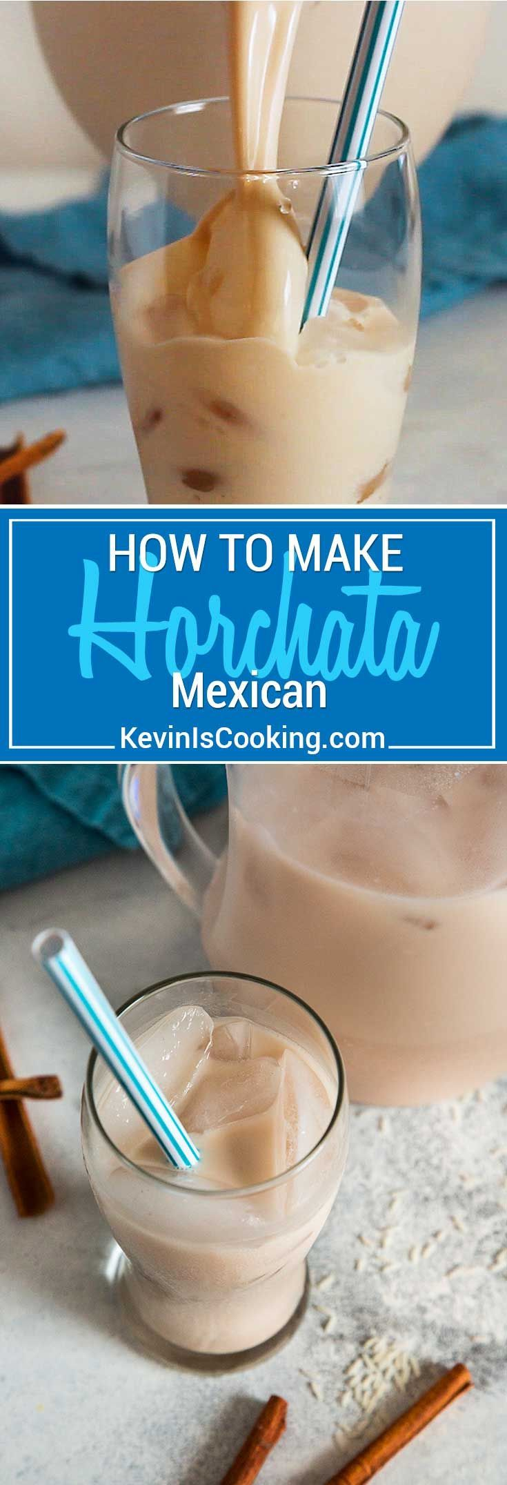 Horchata is a sweet, non-alcoholic, Mexican drink made from soaked rice, cinnamon and often times almonds. My deliciously sweet, blended beverage has a few ingredients that give it an extra touch that I feel other recipes lack.