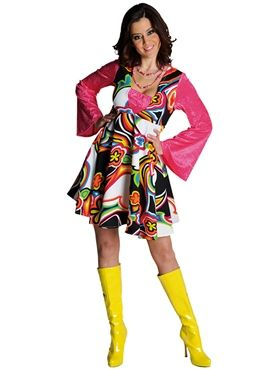 Adult Deluxe 70's Fantasy Dress Costume by Fancy Dress Ball