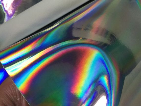 Silver Holographic Leather FabricHolographic silver by Wento