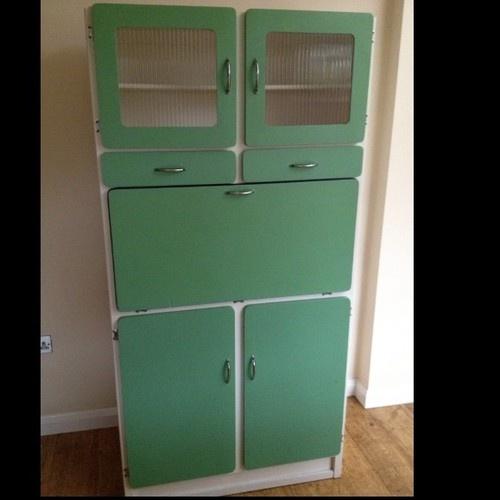 Retro Vintage Kitchen Cabinet Cupboard Unit Kitchenette