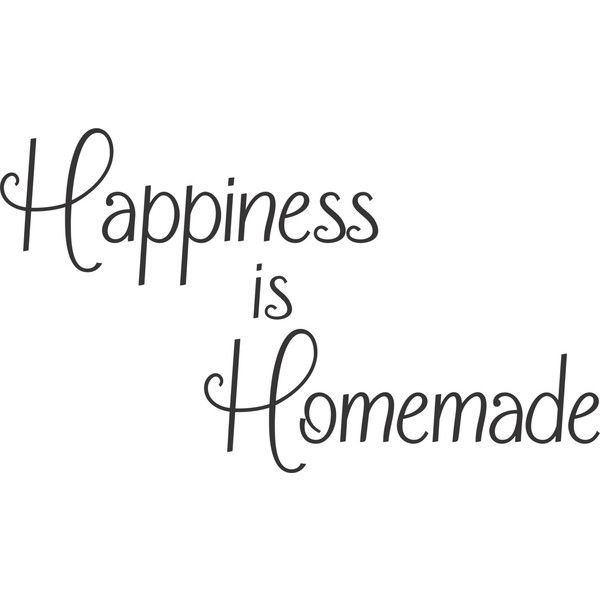 For the Home Happiness is Homemade Kitchen Vinyl Wall Decal Home Decor... (€14) ❤ liked on Polyvore featuring words, text, quotes, happiness, filler, phrase and saying