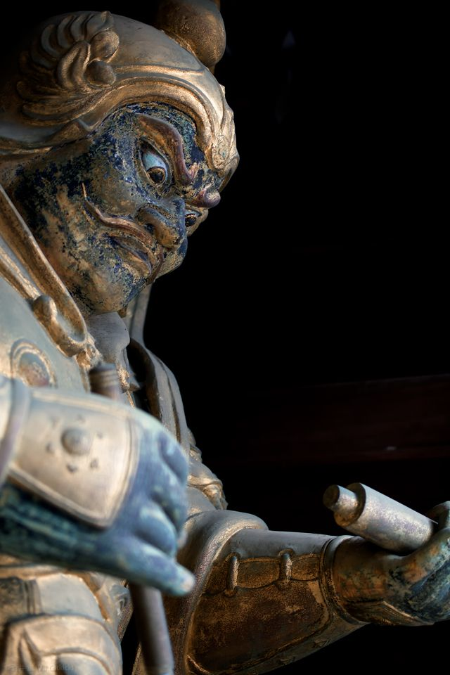 Japanese guardian god at Yuzenji, Japan 広目天像