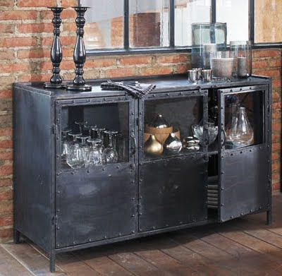 Metal Console Cabinet