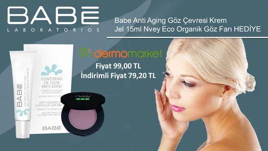 Babe Anti Aging Göz Çevresi Krem-Jel 15ml Nvey Eco Organik Göz Farı HEDİYE Cilt bakımı-Göz makyajı  Fiyat 99,00 TL İndirimli Fiyat 79,20 TL  Ürünü incelemek İçin : http://www.dermomarket.com/Babe-Anti-Aging-Goz-Cevresi-Krem…  #babe #babeürünleri #kırışıklıklar #organik #makyaj #gözfarı #kampanya #indirim #dermokozmetik #dermomarket #sağlık