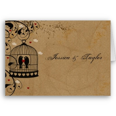 Love Birds Wedding Invitation Card by longdistgramma