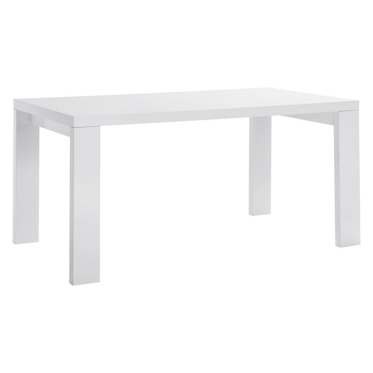 ASPER 6 seat white high gloss dining table