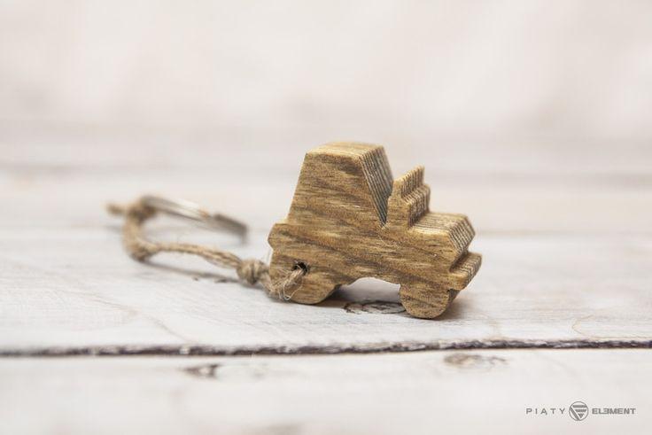 Brelok drewniany - Traktorek - PiatyElement - Breloczki