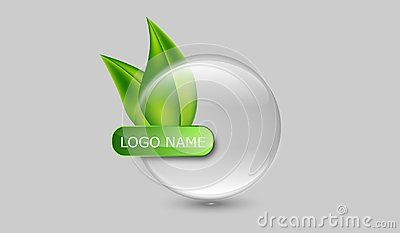Translucid company logo. isolated glossy crystal