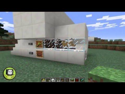Minecraft   Granja semi-automática de cerdos con pistón versión 1.9.2 - YouTube