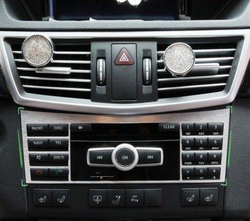 New Aluminium Interior Center Console Button Panel Switch Panel decorative Cover Trim For Mercedes Benz W212 E Class 2010-2015