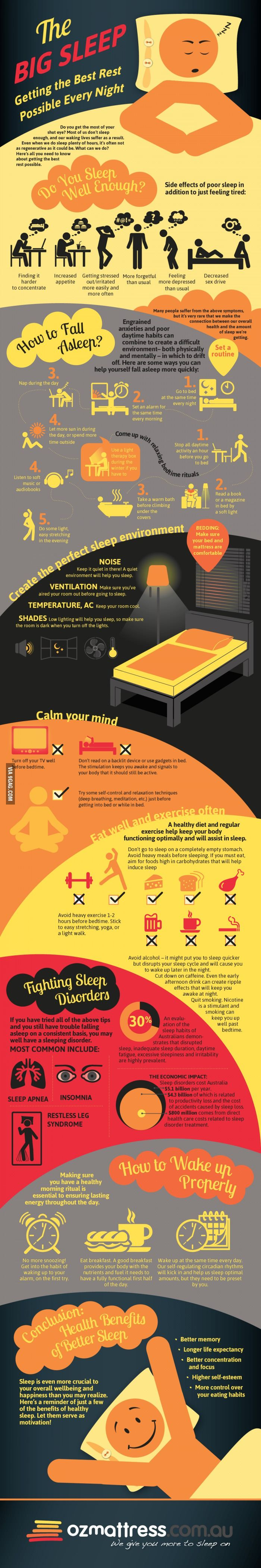 An Infographic To Help You Get The Best Sleep