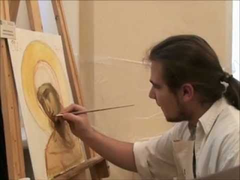 How to represent the halo in byzantine icons - part 4.wmv www.danielneculae.com - YouTube