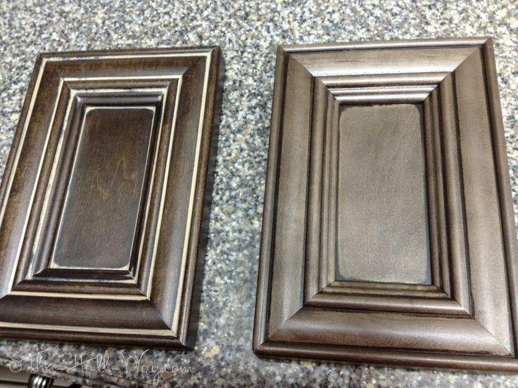 Island Cabinet Options:  L – Espresso Stained Maple w/ Khaki Glaze  R – Charcoal Stained Maple w/ Coffee Glaze