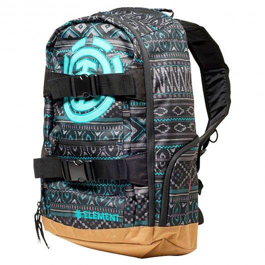 element mohave strapped backpack aqua motifs ethnique indien sac dos de skate 69 00 element. Black Bedroom Furniture Sets. Home Design Ideas