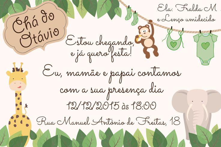 Convite Chá de Bebê do Otávio