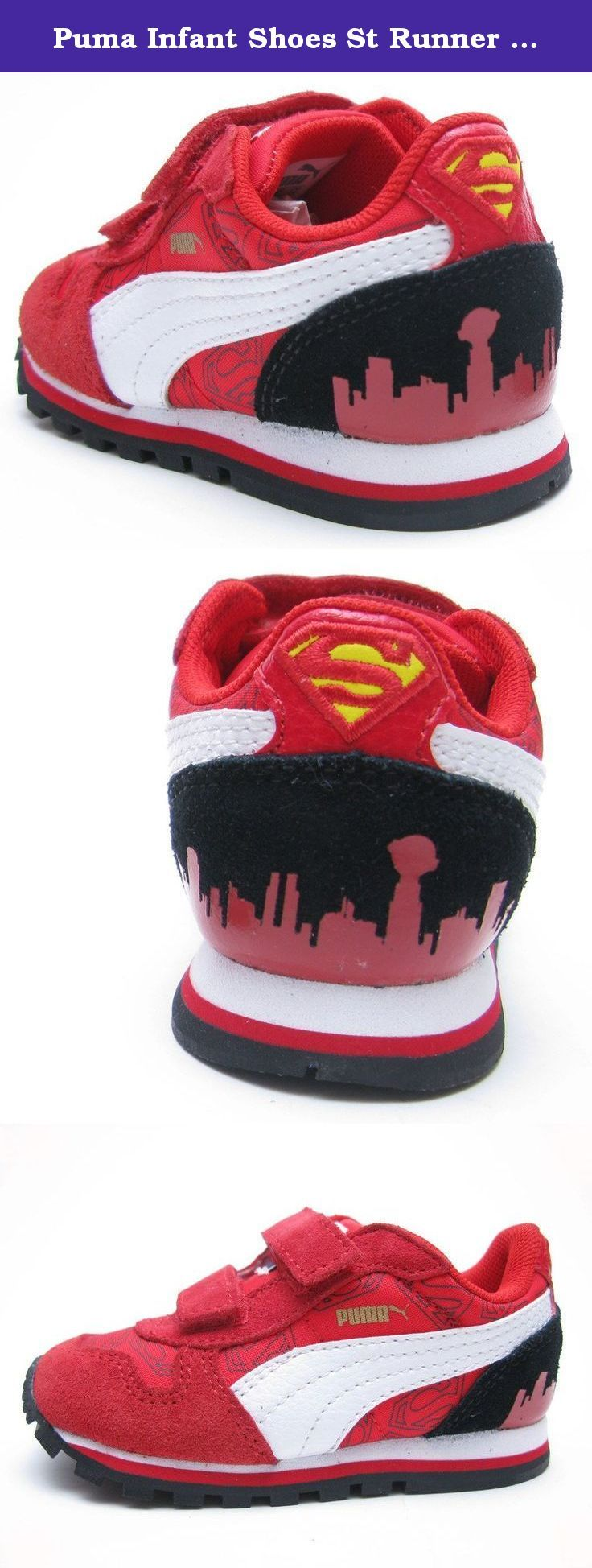 Puma Infant Shoes St Runner Superman Hero Red Fashion (9). ST Runner Superman Toddler Kids in High Risk Red/Rio Red by Puma.