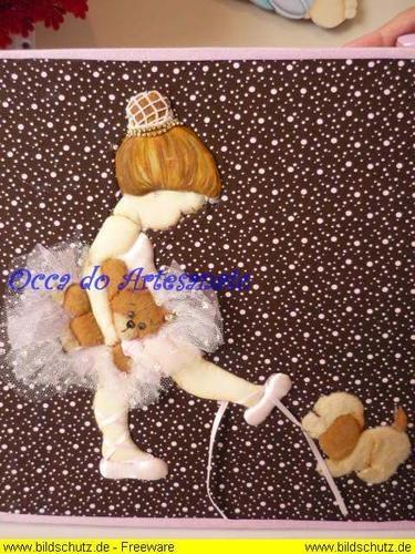 Dimensional ballerina and doggie