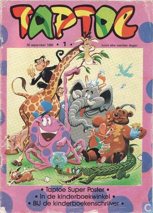 Taptoe. Dit is een later exemplaar maar vanaf de kleuterschool had je zo'n tijdschriften trio dat elkaar opvolgde naargelang je leeftijd. Eerst de OKKI, dan de JIPPO, als laatste de TAPTOE.