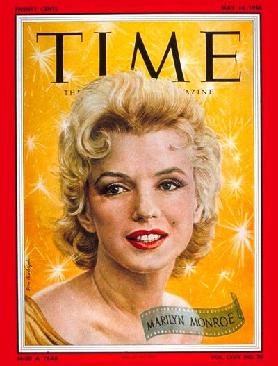 Marilyn Monroe's first TIME cover — May 14, 1956.