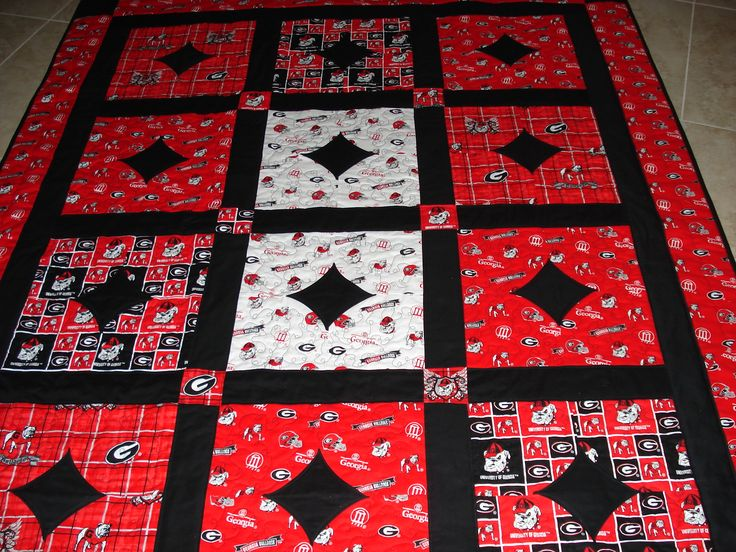 Quilt Patterns For Sports : 24 curated Quilts: Collegiate & Sports ideas by kwdooley Oakland raiders, Quilt and Sports quilts