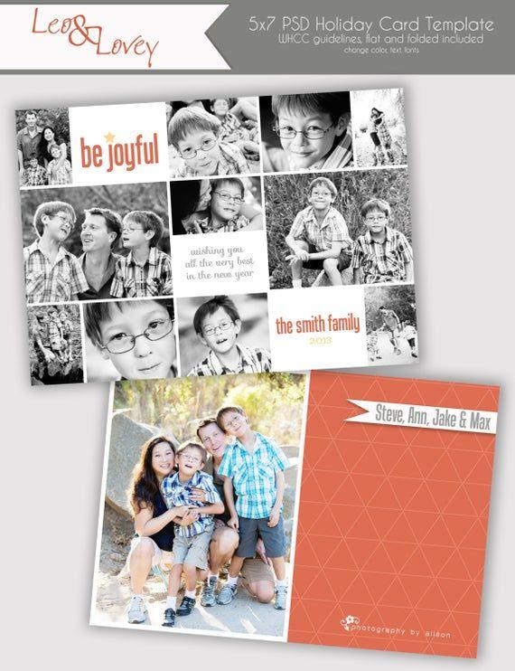 Be Joyful Christmas Photo Card Template Hoilday Photo Card Etsy Christmas Photo Card Template Holiday Photo Cards Template Photo Card Template