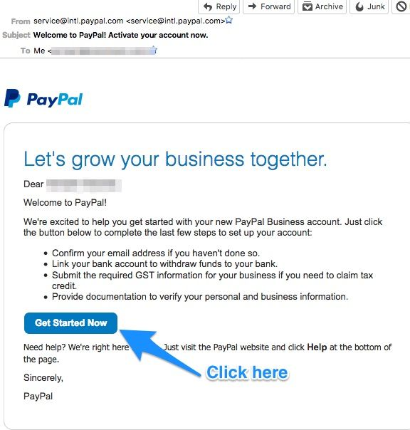 Confirm Paypal Account Email Address | paypal | Accounting