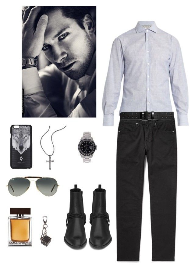 """Untitled #580"" by lianatzelese on Polyvore featuring Brunello Cucinelli, Dolce&Gabbana, Rolex, Shinola, Yves Saint Laurent, Marcelo Burlon, Steve Madden, Tod's, Ray-Ban and men's fashion"