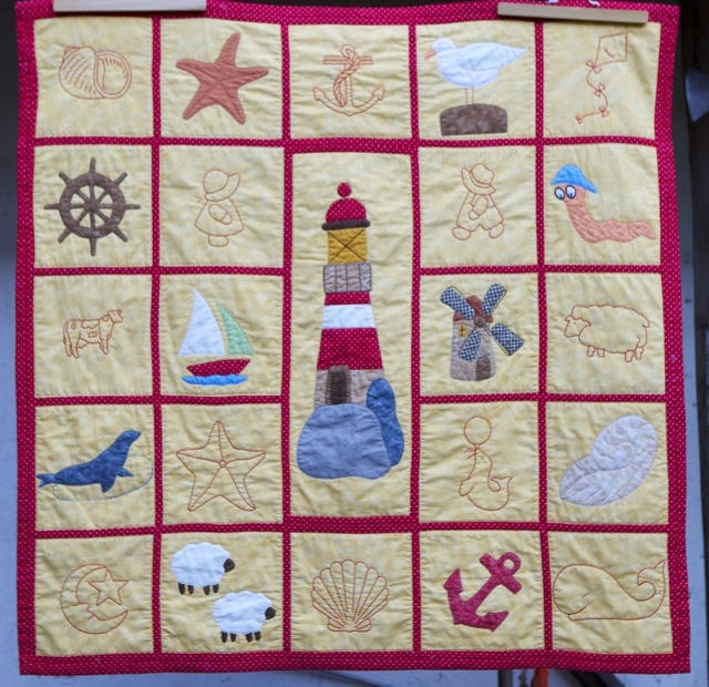 North sea quilt by Quiltchen from the quiltingboard.com