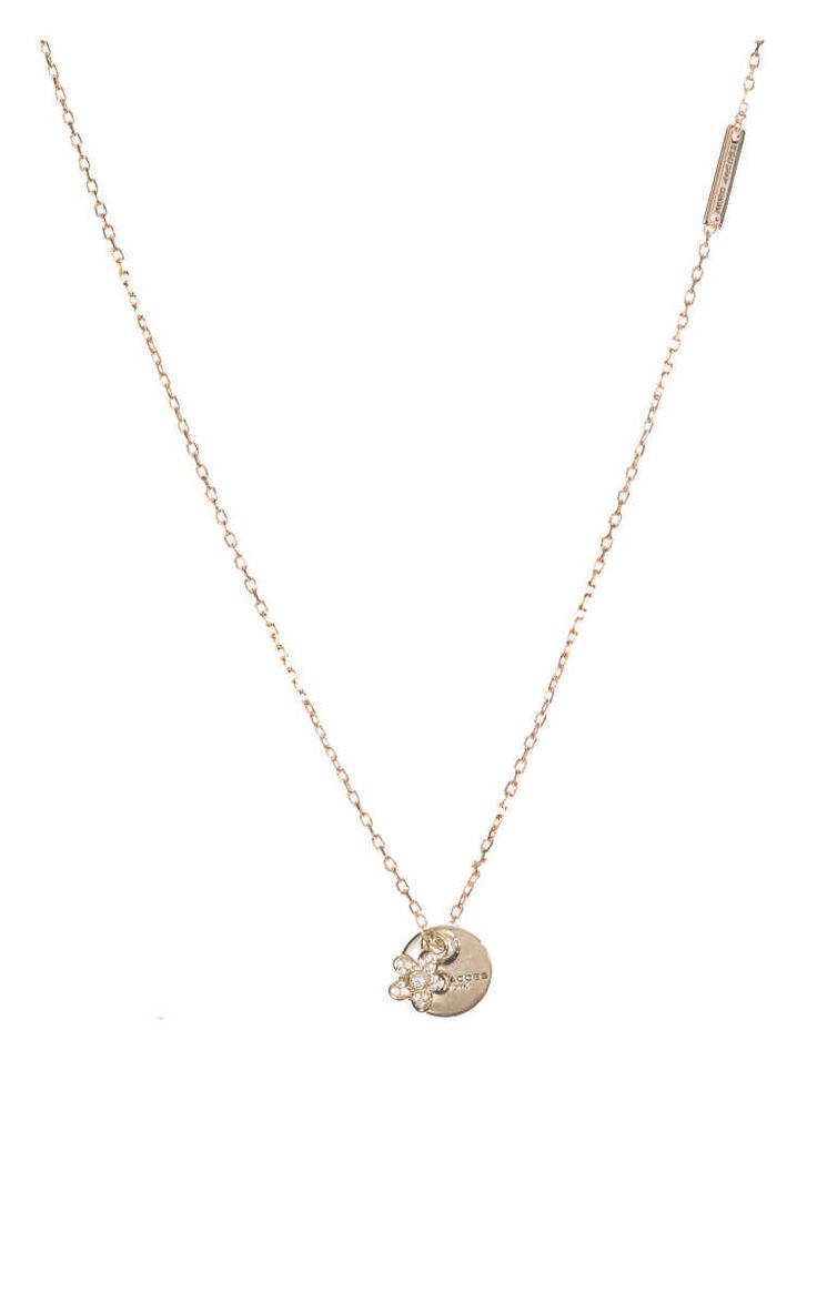 Halsband MJ Coin Pendant Flower CRYSTAL/GOLD - Marc Jacobs - Designers - Raglady
