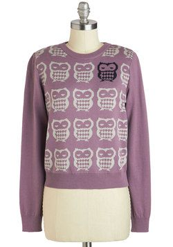 Odd One Owl Sweater, #ModCloth - I wish it came in plus sizes.
