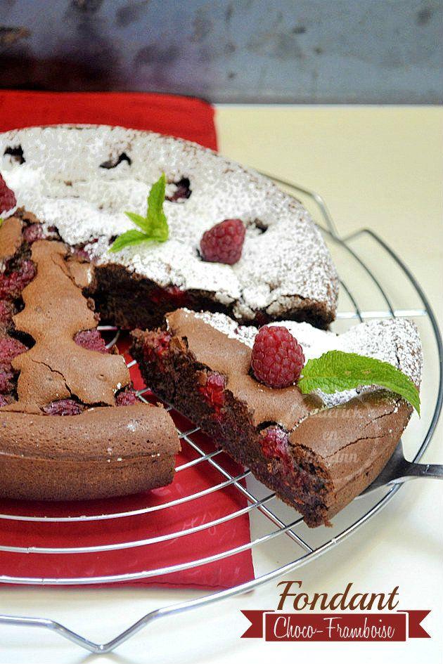Fondant chocolat noir et framboises - recette du gâteau au chocolat fondant au gout irrésistible