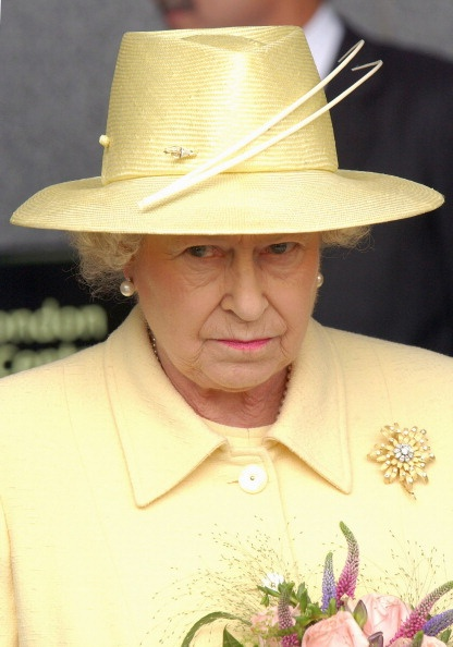 Queen Elizabeth, 2004. Made for QEII by Garrard. The Frosted Sunflower is made from18 carat gold petals with a diamond centre, the diamond studded petals are exquisite.