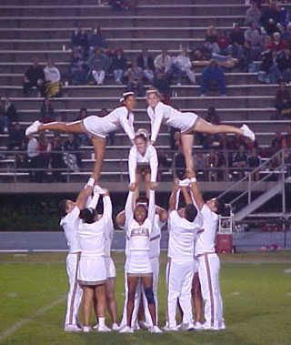 Image detail for -Cheerleading Featured Stunt - Cerritos College Cheerleaders ...