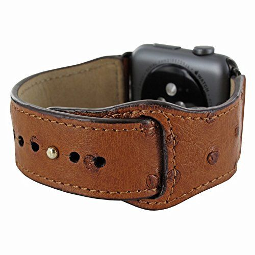 Piel Frama Armband Case for Apple Watch 42 mm - Ostrich Tan. Fits wrists between 15-20cm in diameter. Introducing the Piel Frama Apple Watch leather wrist strap. This beautiful high quality leather strap will add style and elegance to your new Apple Watch.