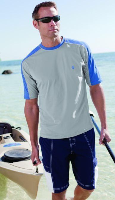 1000 images about coolibar men 39 s uv protective swimwear for Men s uv swim shirt short sleeve