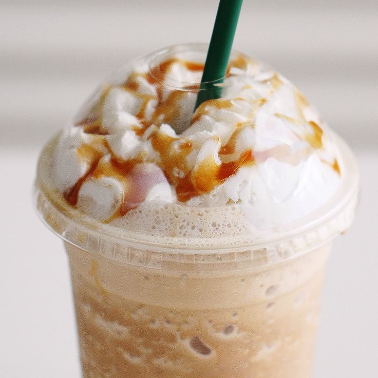 Caramel Frappuccino! Convenient homemade Starbucks fix at home. Icy Frappuccinos are the best summer treat.
