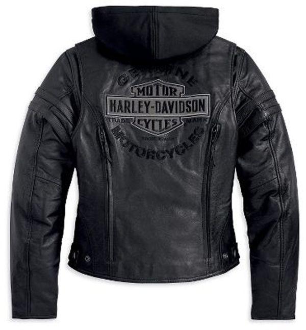 Harley-Davidson® | 98030-12VW | Harley-Davidson® Womens Miss Enthusiast 3-In-1 Black Leather Jacket
