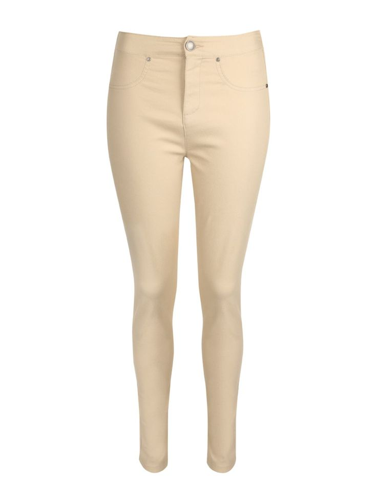 £14 Opt for a stylish casual look with these women's beige zip front jeggings. With a button and zip up fly and a fitted design, these jeggings look great worn w...