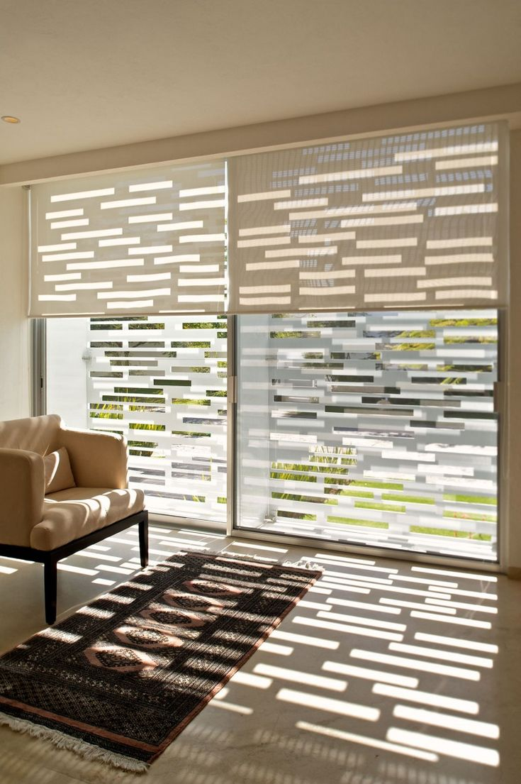 best blinds images on pinterest  blinds curtains and window  - perfect modern house design in mexico  white floor shade window blinddesign modern house design